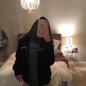 black fuzzy jacket